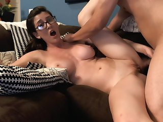 Skinny hottie serves huge black cock